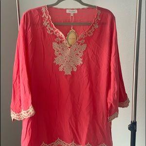 Light Beautiful Salmon color blouse